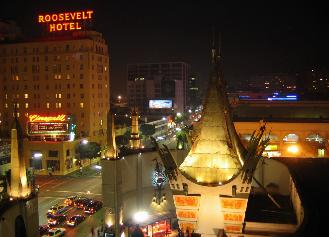 The Roosevelt Hotel Is On Hollywood Boulevard Across Street From Grauman S Chinese Theater Foreground